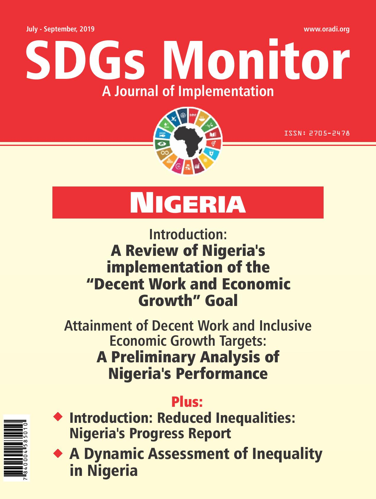 SDGs Monitor Journal (July-September, 2019) Vol. 1 No. 3