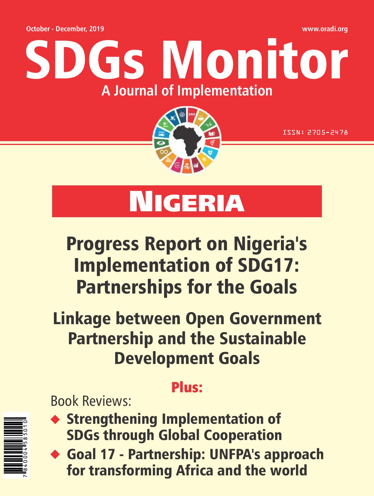 SDGs Monitor Journal (Oct - Dec, 2019)