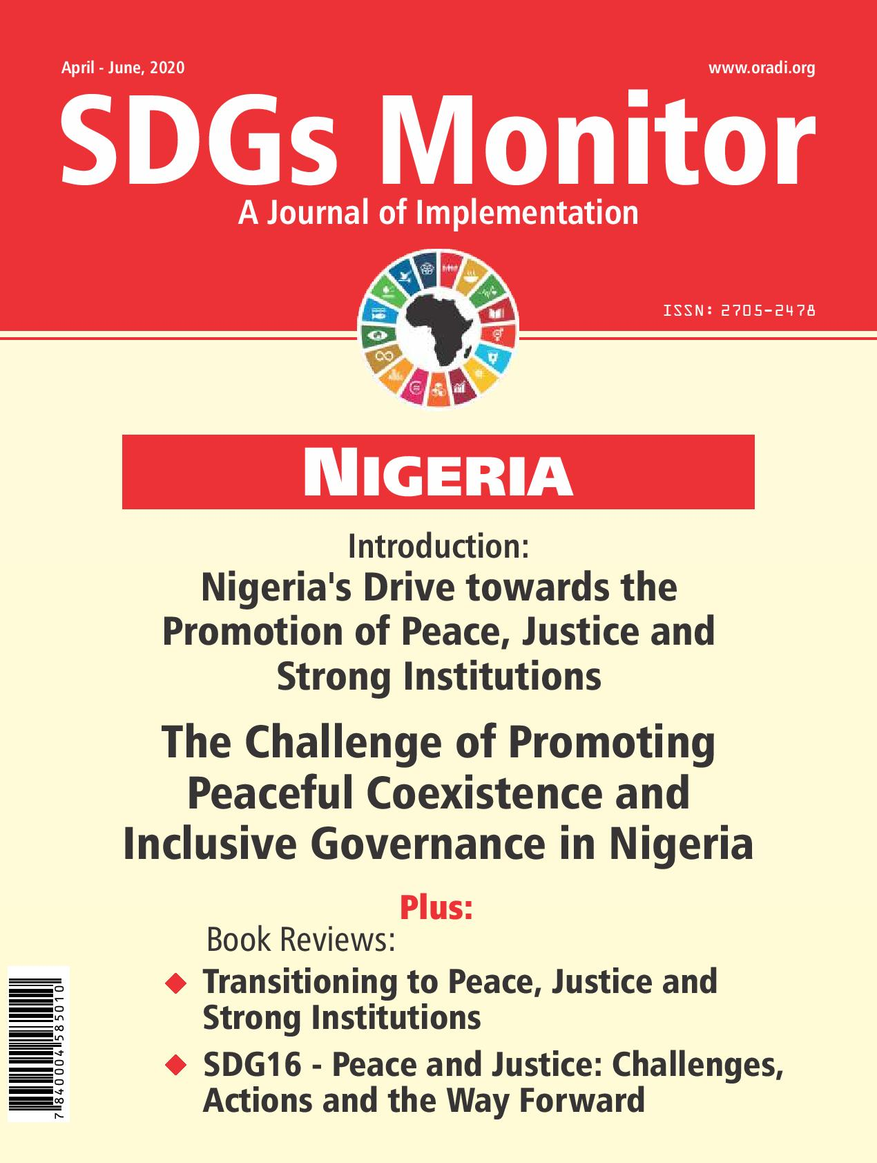 SDGs Monitor Journal (April - June, 2020)